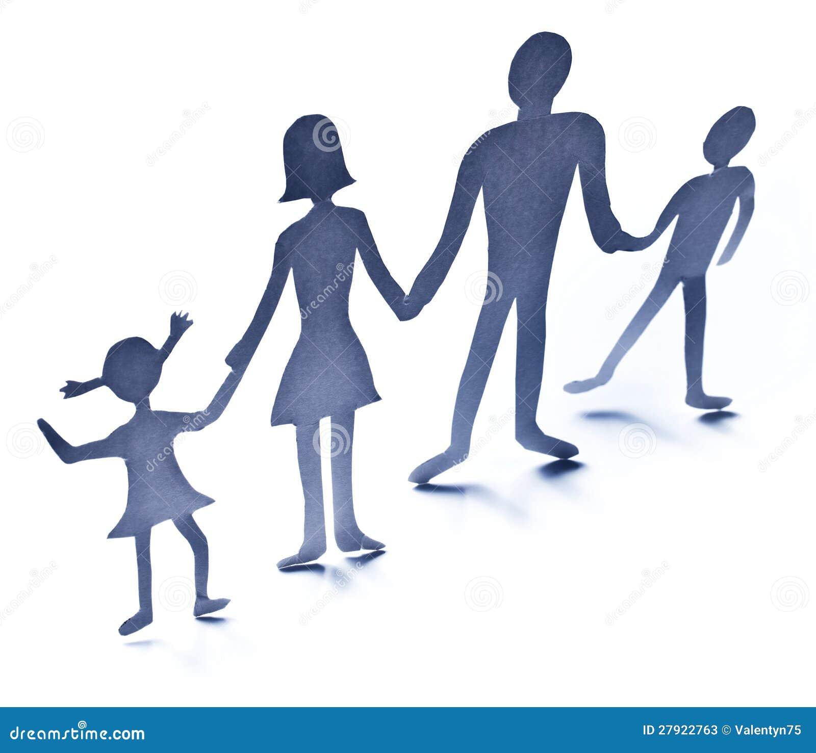 Figuras De La Cartulina De La Familia Imagen De Archivo Imagen De