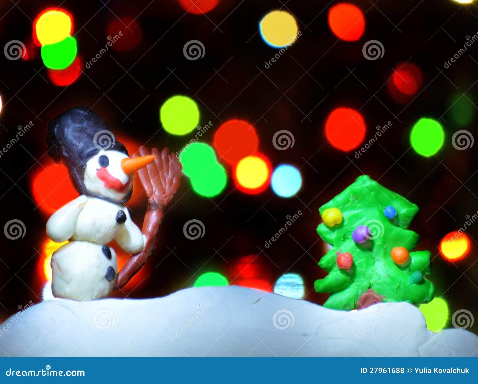 Figuras De La Navidad De La Arcilla Foto De Archivo Imagen De Figuras Arcilla 27961688