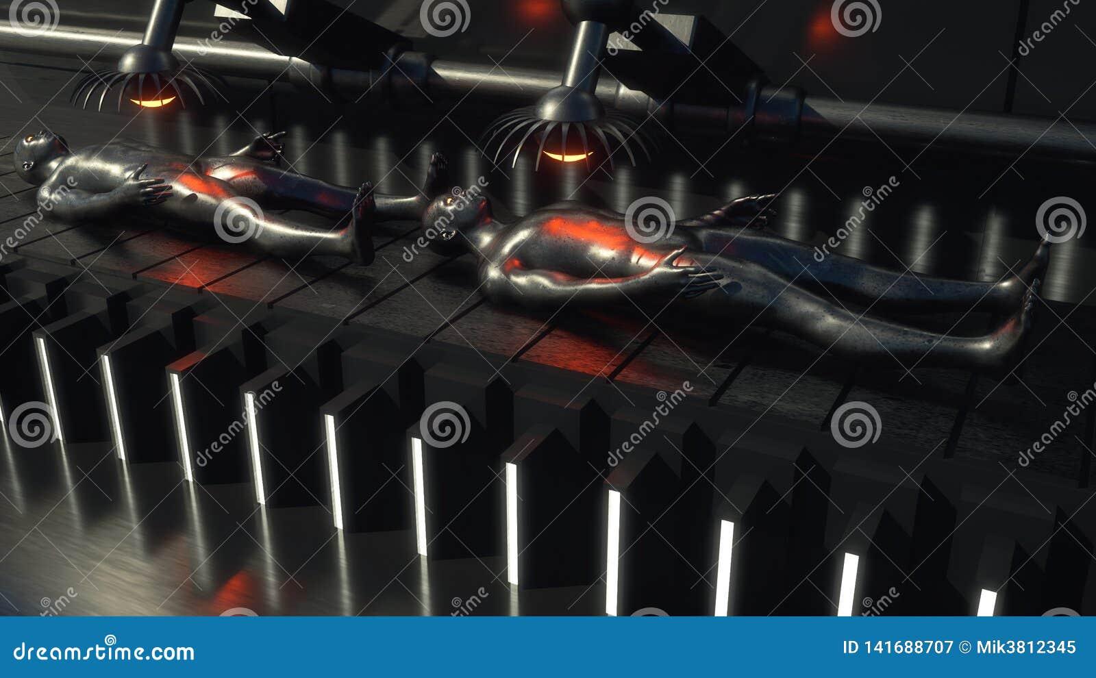 Figuras do humanoid da clonagem