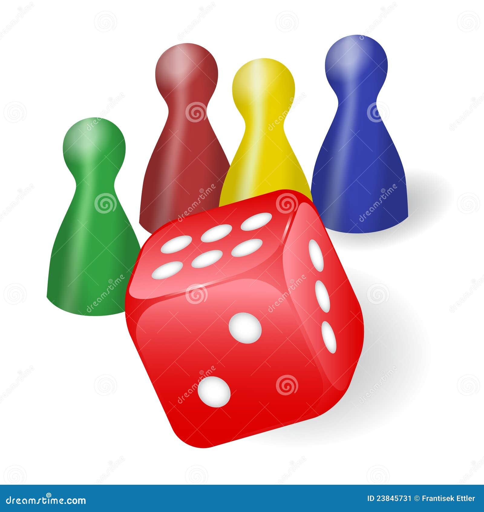 Figuras do jogo de mesa com dados