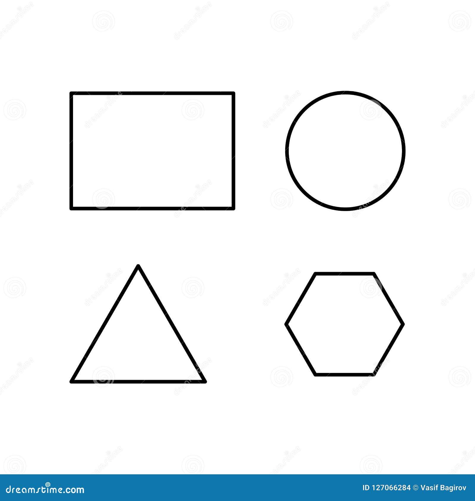 Figuras Geométricas Del Vector Resuma El Triángulo Equilateral