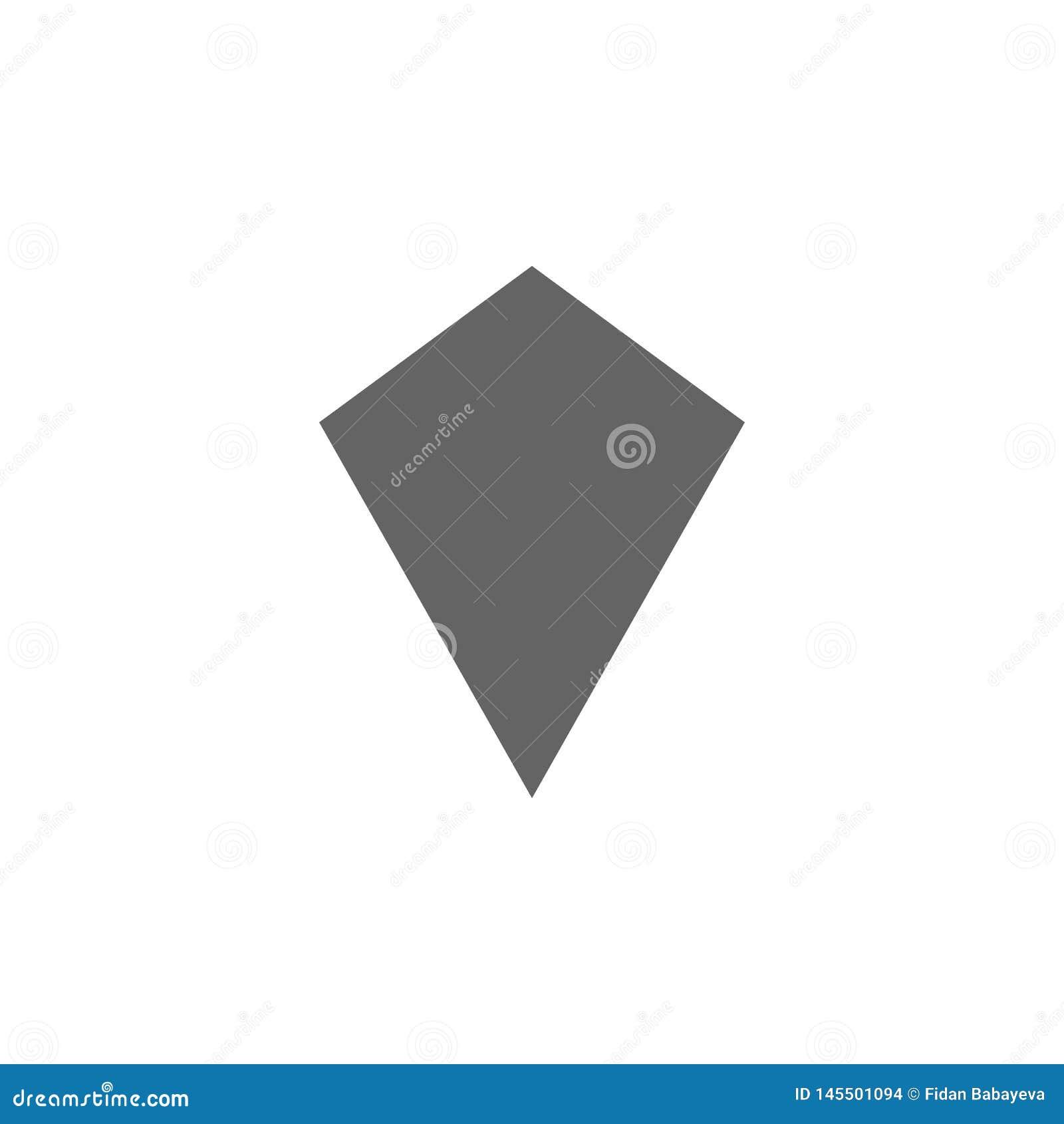 Figuras geométricas, icono de la cometa Elementos de las figuras geom?tricas icono del ejemplo Las muestras y los s?mbolos se pue