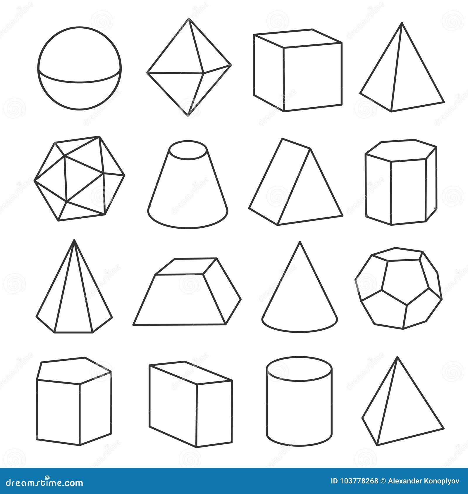 Figuras Geométricas Isométricas Ilustração Do Vetor