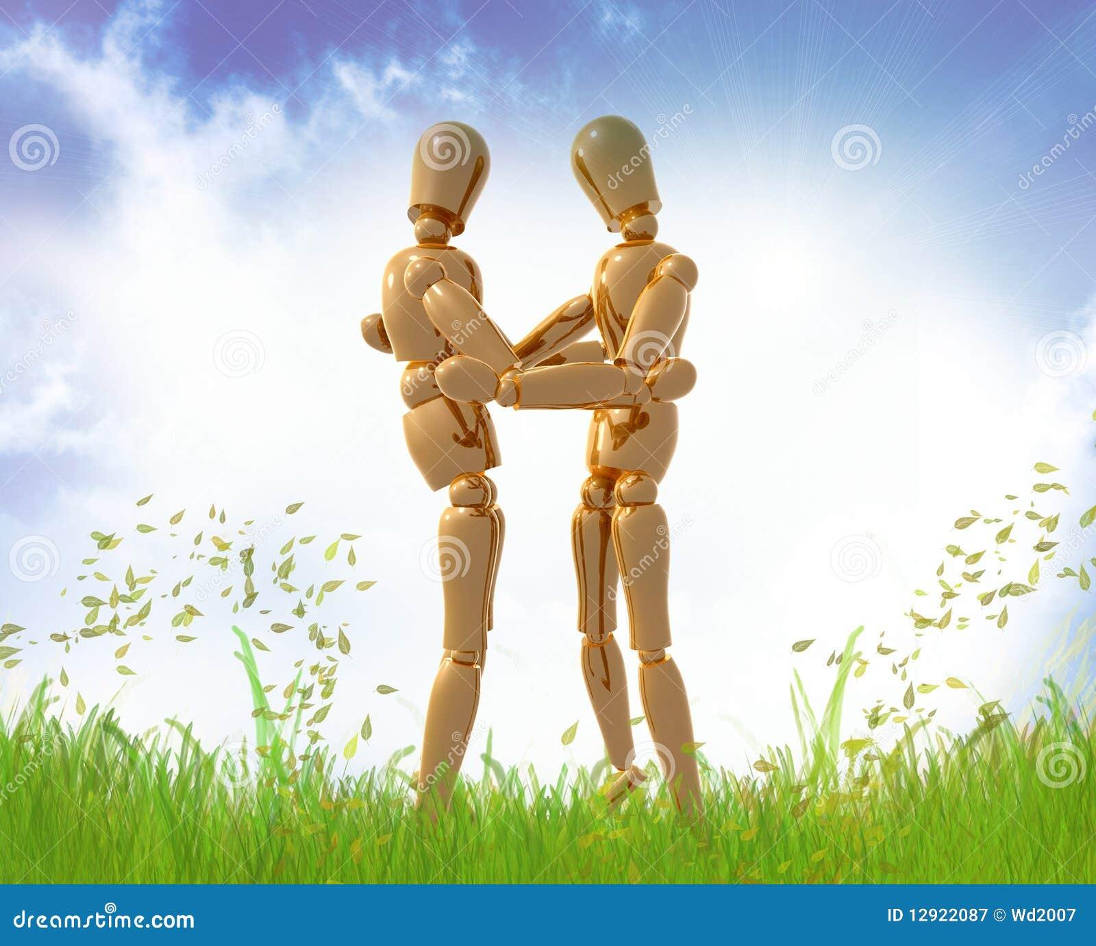 Figuras hug do manequim