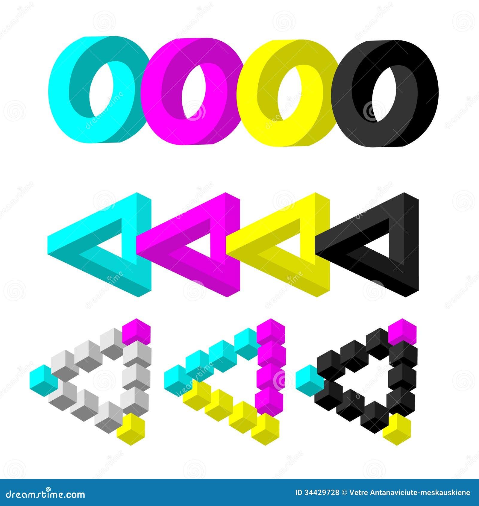 Figuras imposs veis cmyk fotos de stock royalty free - Figuras geometricas imposibles ...