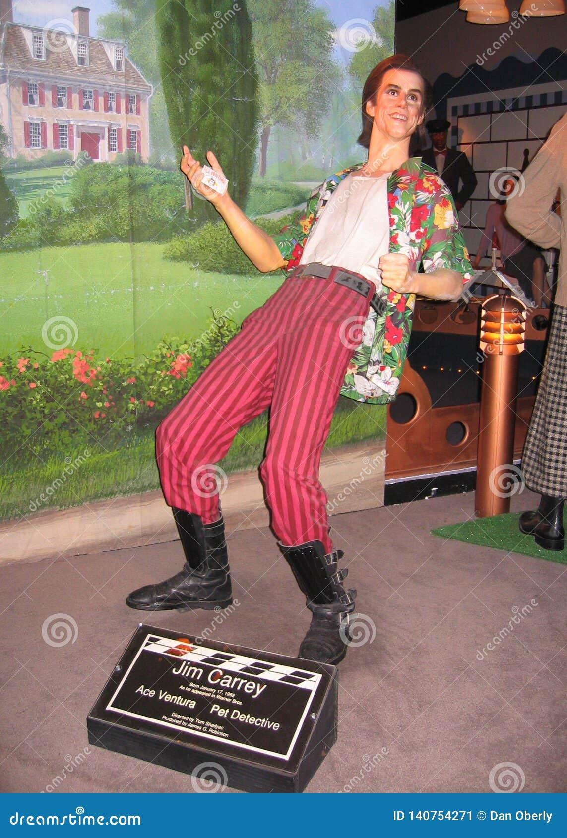 Figure de cire de Jim Carrey comme Ace