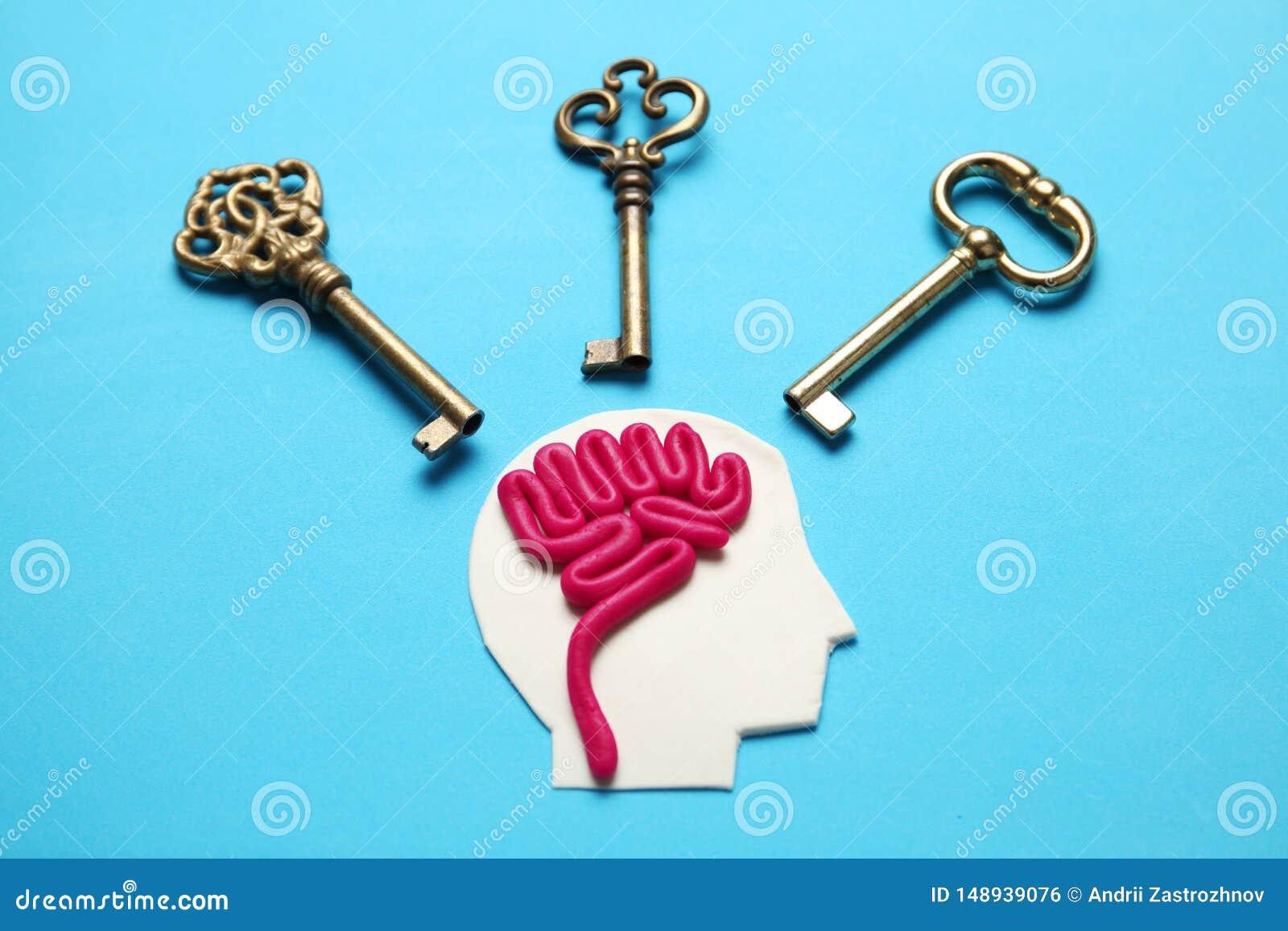 Figure de l homme et de trois clés Problèmes commerciaux et solution