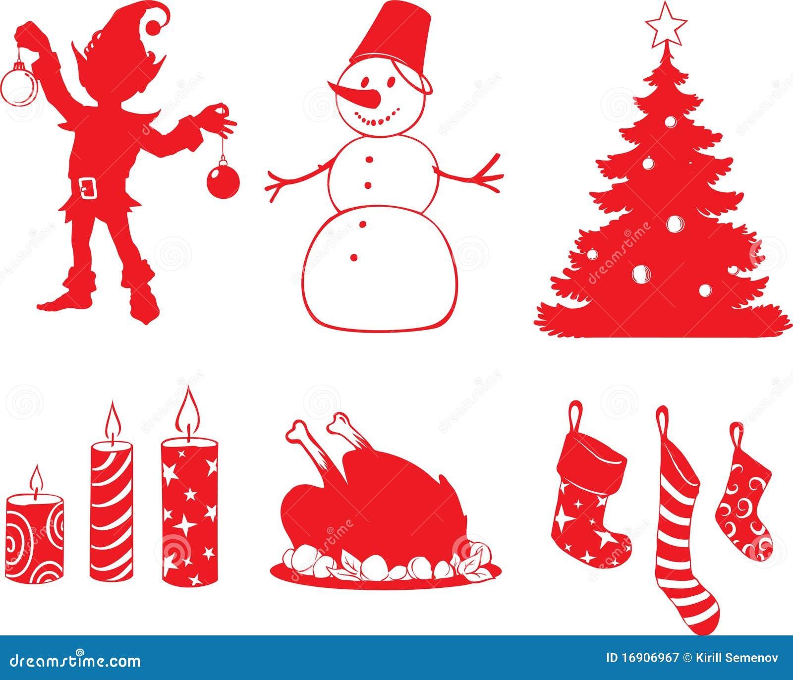 Figure Di Natale Illustrazione Vettoriale Illustrazione Di Siluetta