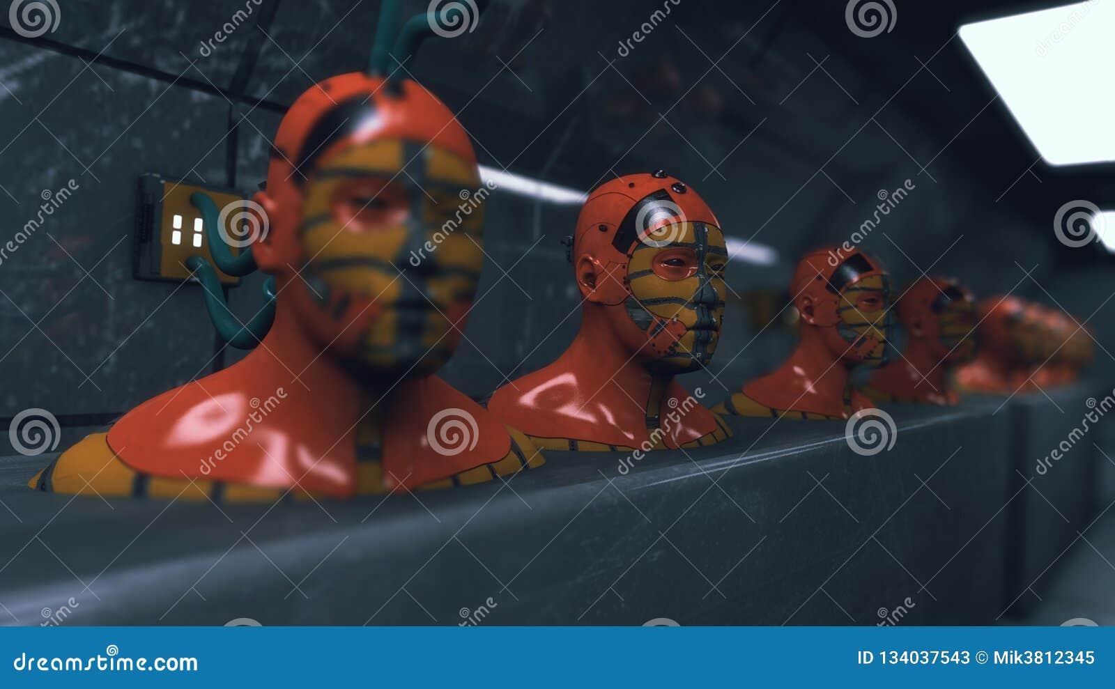 Figure di umanoide della clonazione