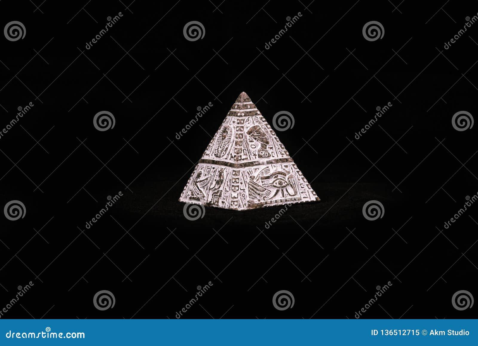 Figure Egyptian pyramid