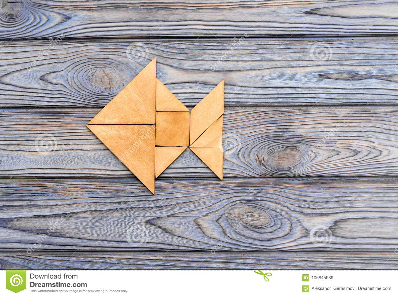 Download Figure Of Fish From Wooden Puzzles Stock Image - Image of creative, education: 106845989