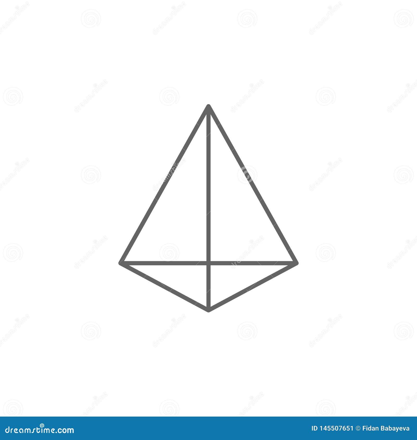 Figure geometriche, icona triangolare del profilo della piramide Elementi delle figure geometriche icona dell illustrazione I seg