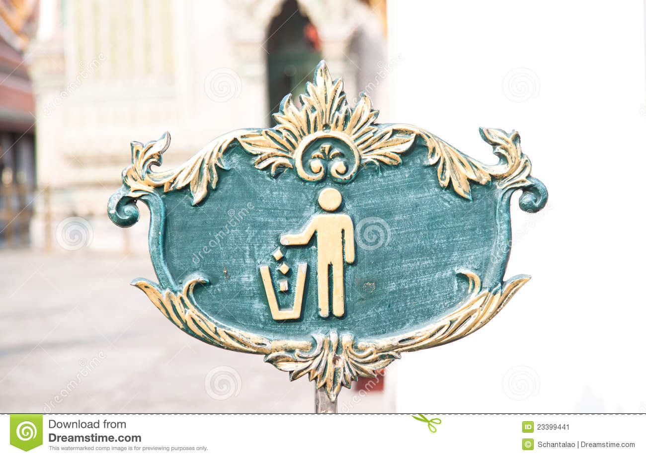 Figure of person throwing garbage into a trash can