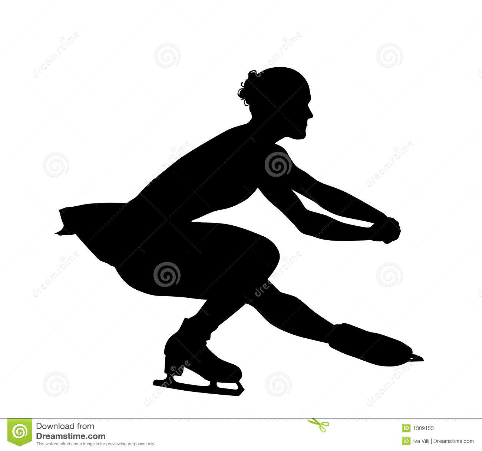 figure silhouette de patinage illustration stock image states clip art black and white skate clip art black and white