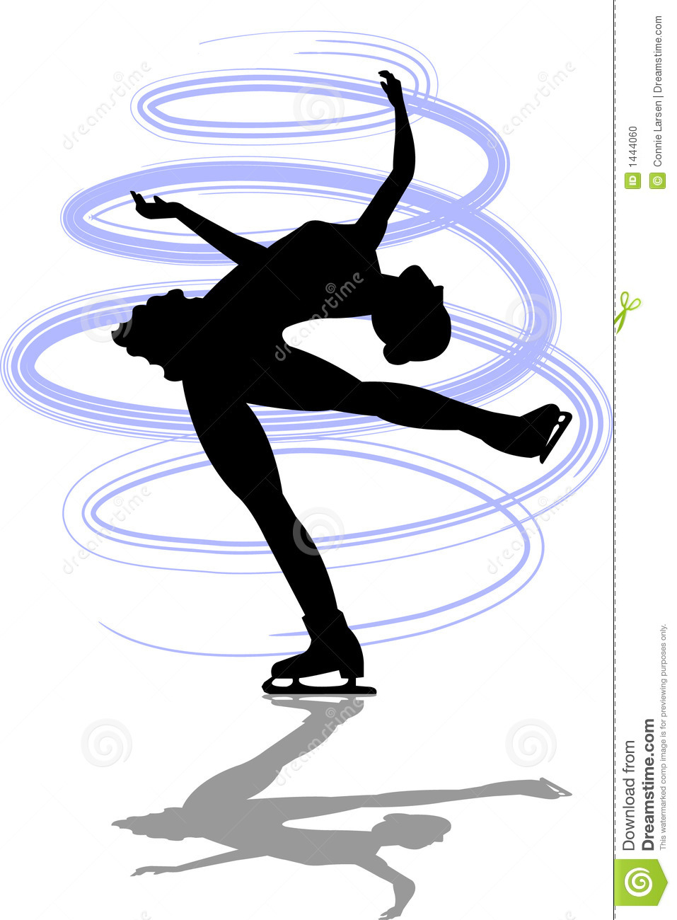 Ice Skating Clipart Figure skater layback spin/ai