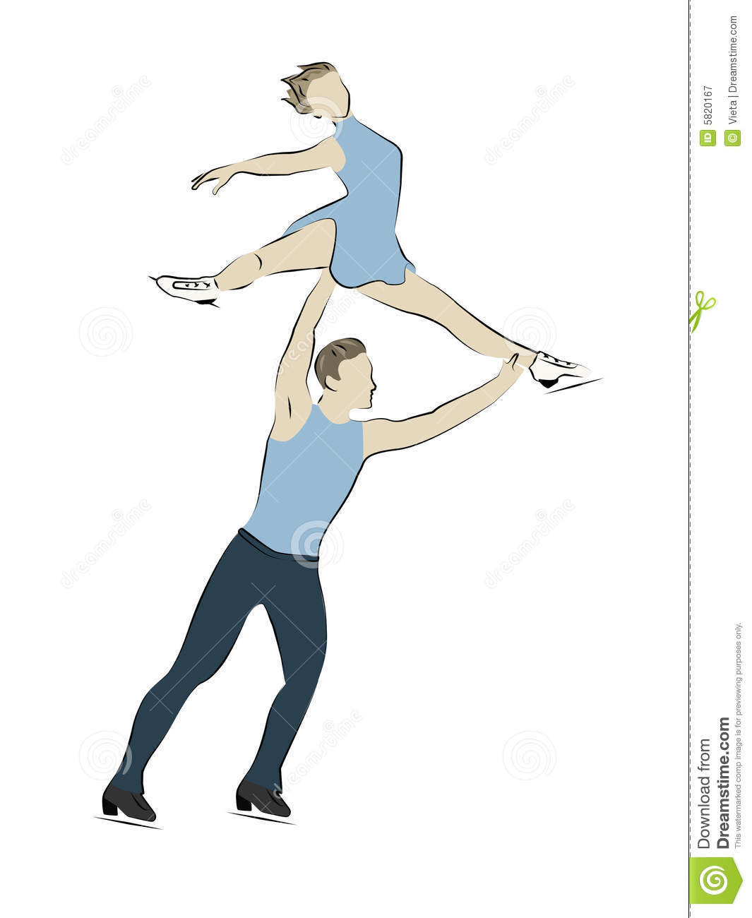 Figure Skater - Pairs Royalty Free Stock Photography - Image: 5820167