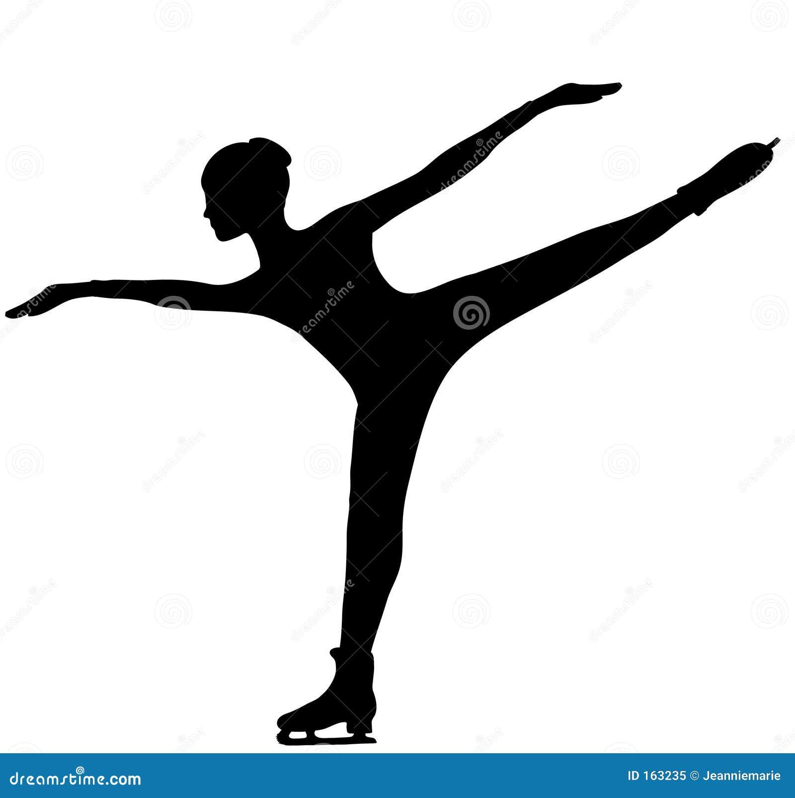 Figure Skater Silhouette Royalty Free Stock Photo