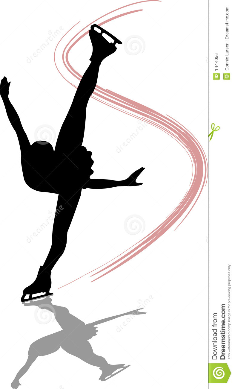 figure skater spiral  ai royalty free stock image image 1444056 ice skating clipart images black and white Ice Skating Silhouette