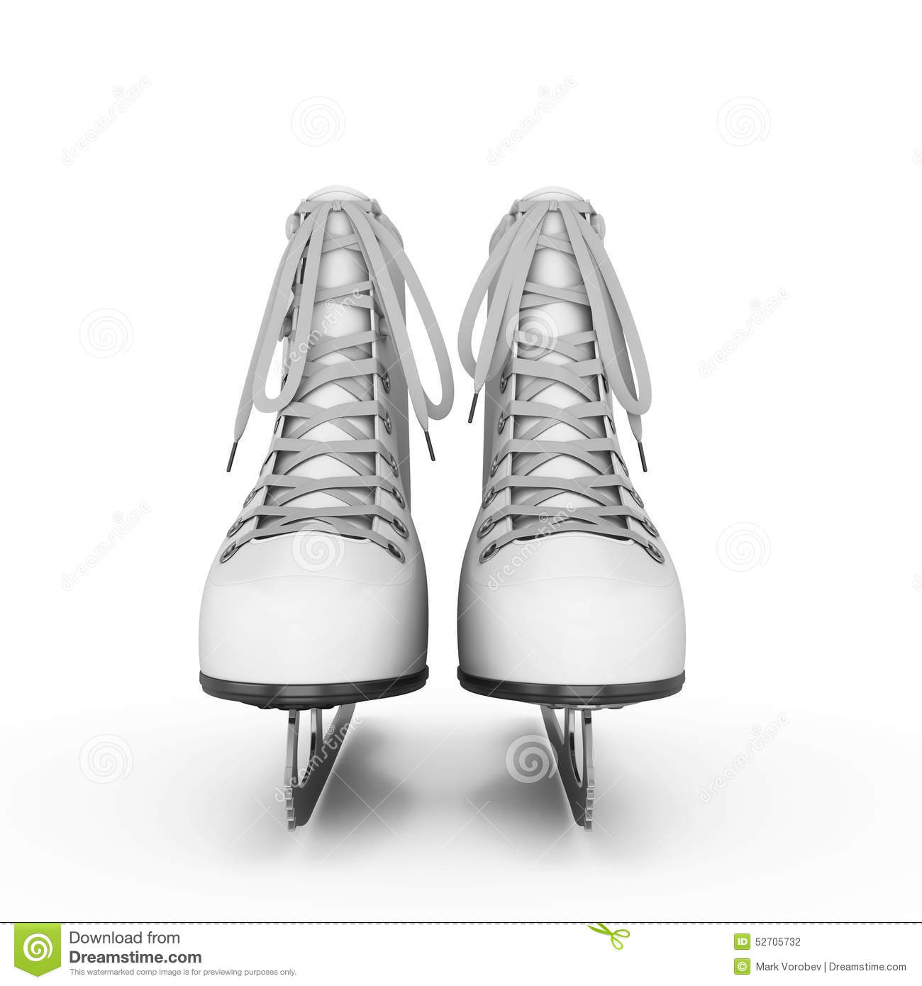 The Female Skates And Boots Of White Color For Figure ...