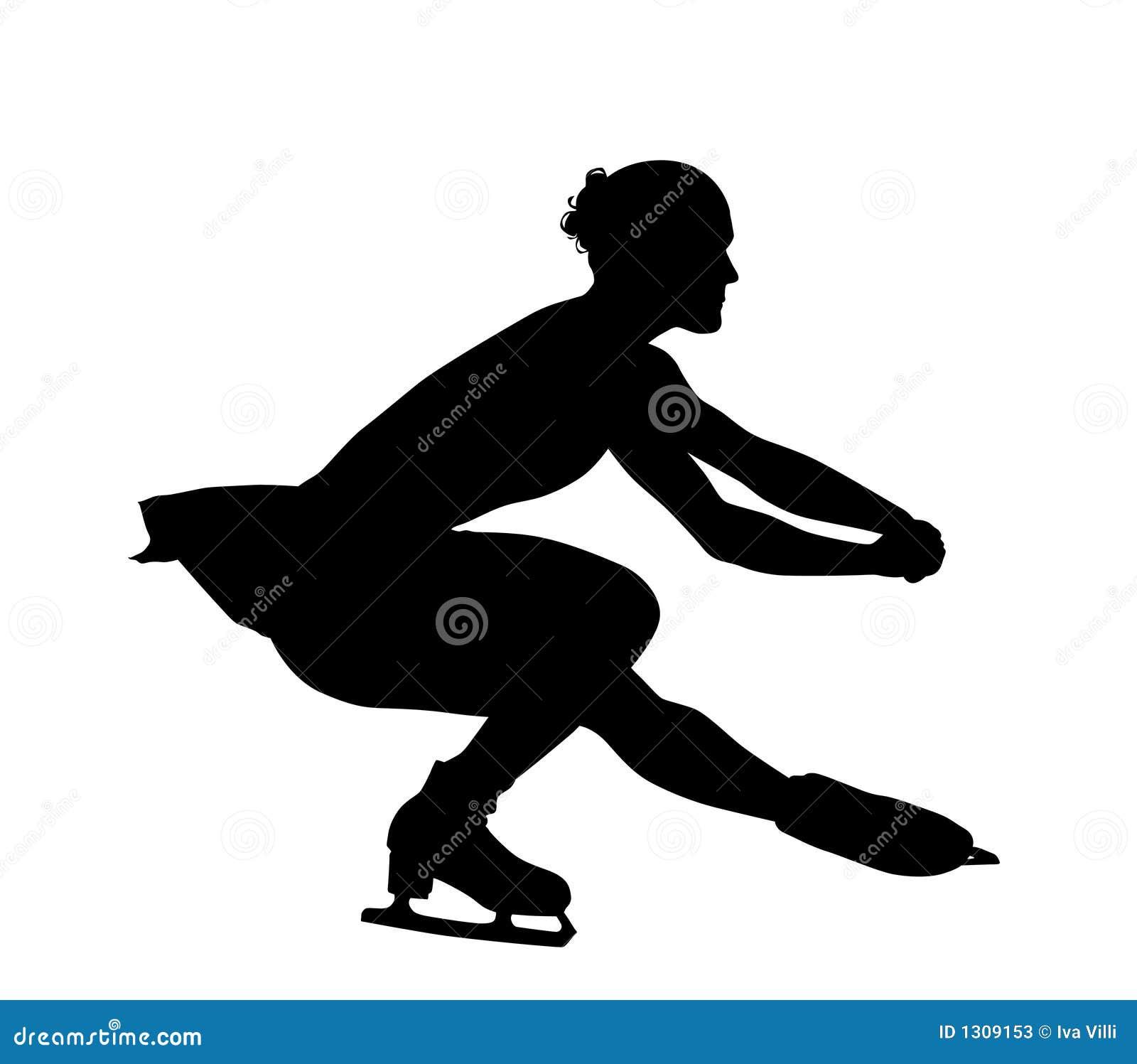 Figure Skating Silhouette Stock Photos - Image: 1309153