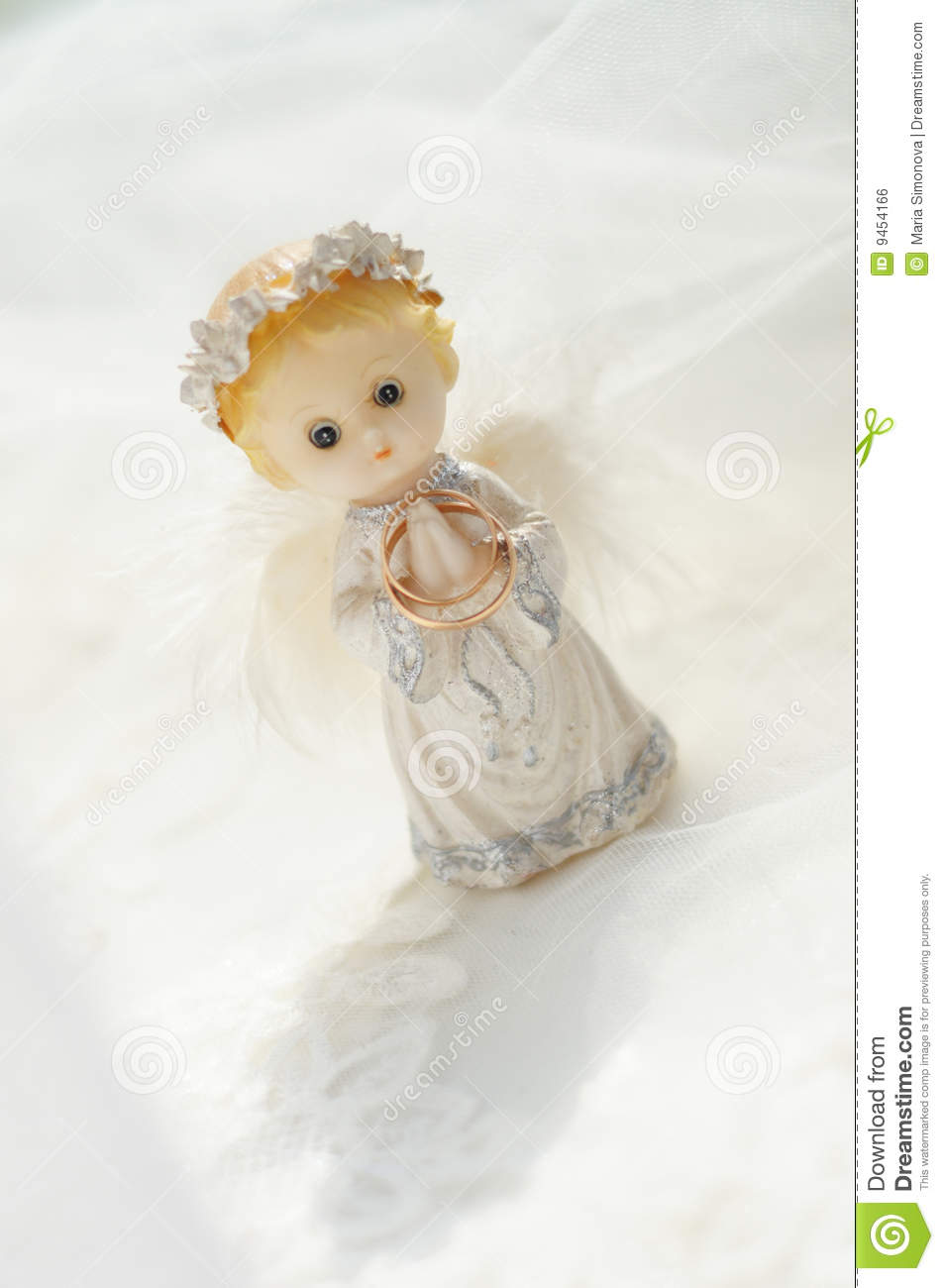 Figure Of A Small Angel Royalty Free Stock Image Image