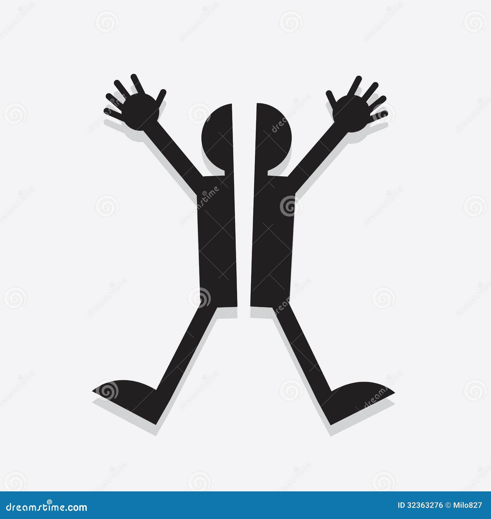 Figure Split Royalty Free Stock Image - Image: 32363276