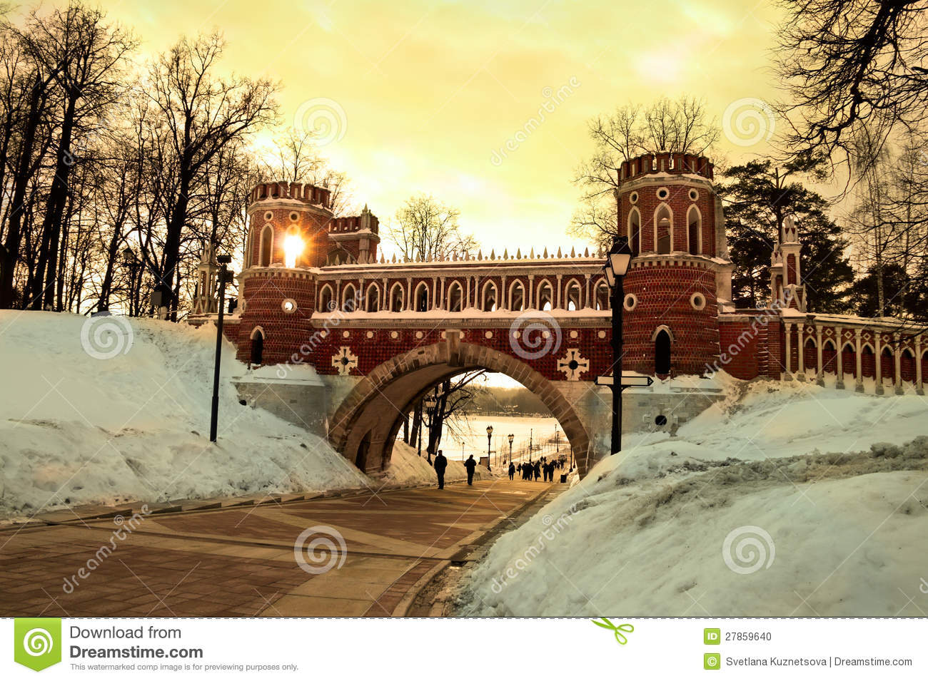 Figured bridge in Tsaritsyno. Moscow