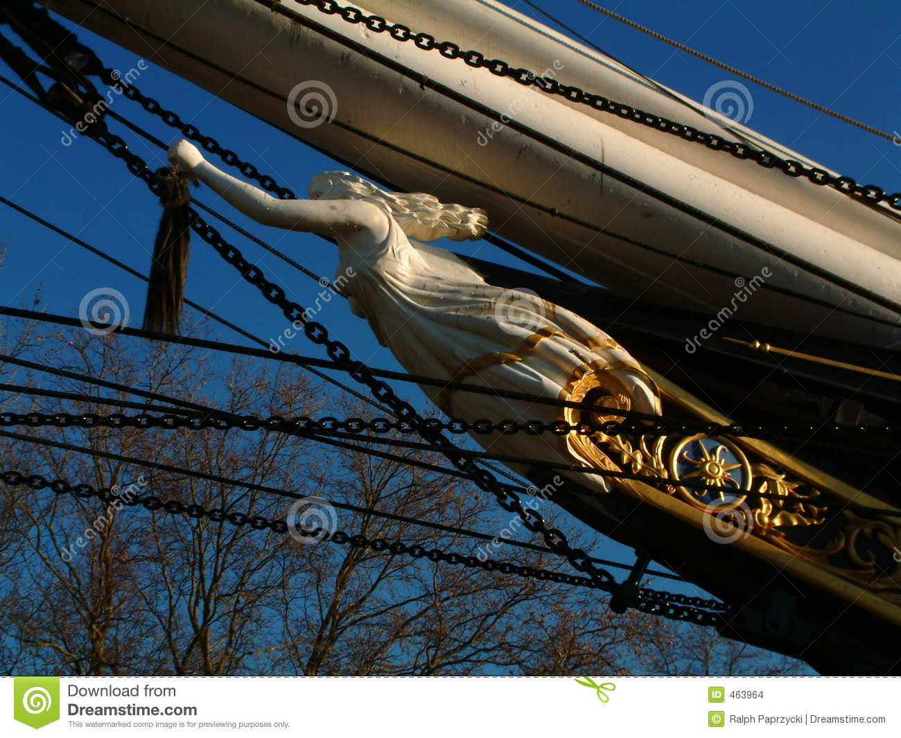 Figurehead of Cutty Sark, Greenwich, London
