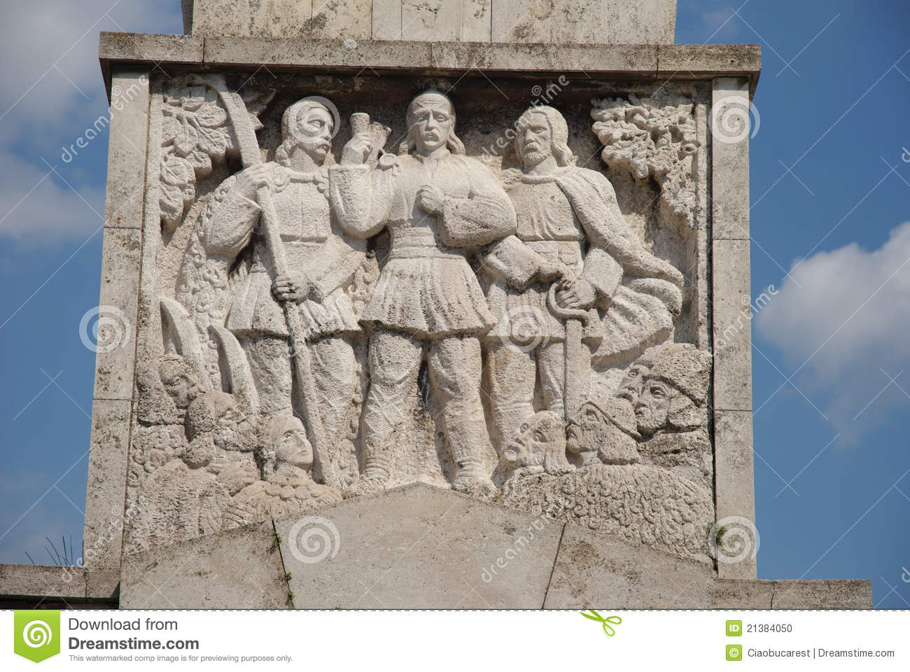 Download Figures In Bas-relief Of The Obelisk, Alba Julia Stock Photo - Image of architecture, figures: 21384050