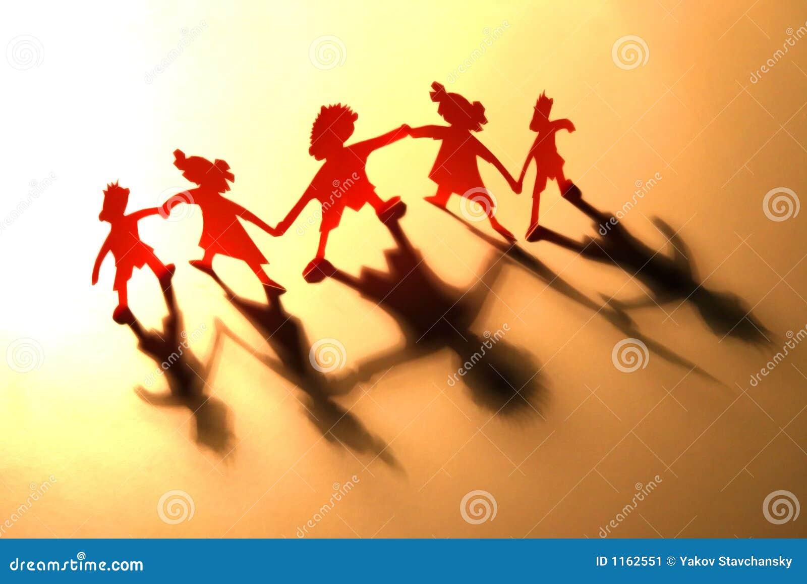Figures of children in dance