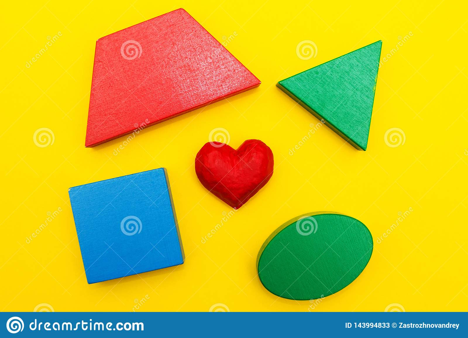 Figures and heart on a yellow background