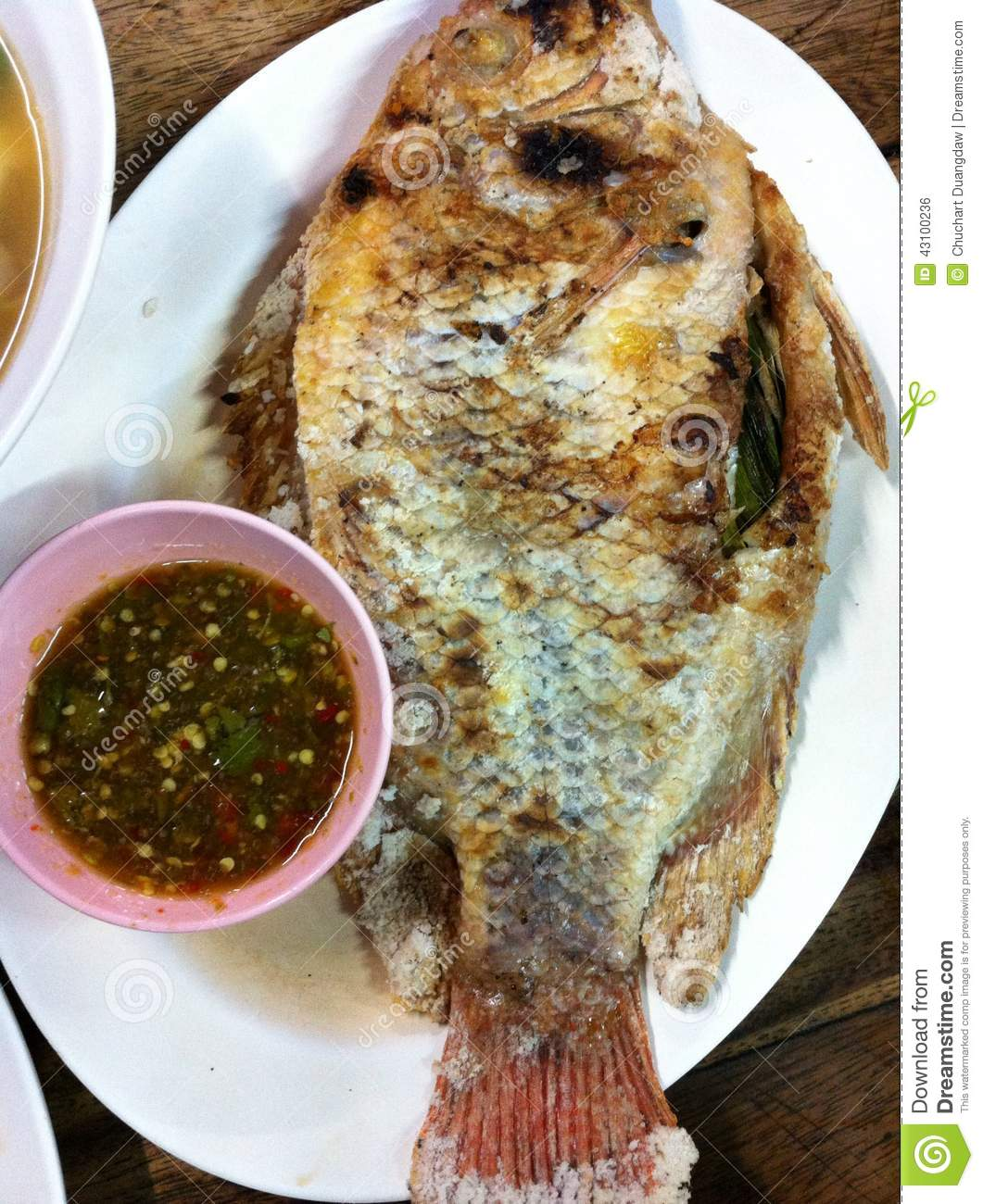 Fihs Grill Food Thai Delicious Stock Photo - Image: 43100236
