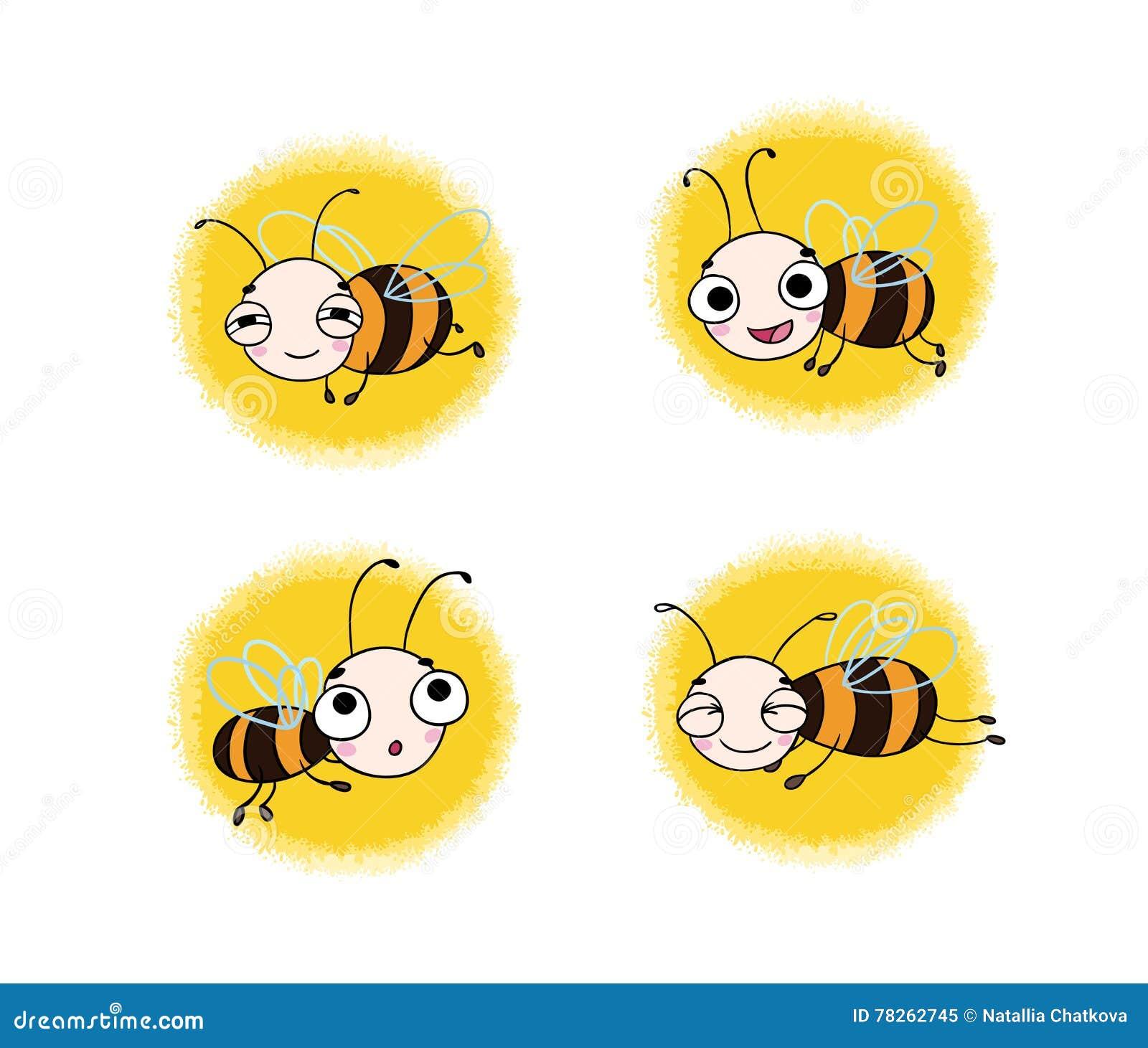 Fije con las abejas lindas de la historieta
