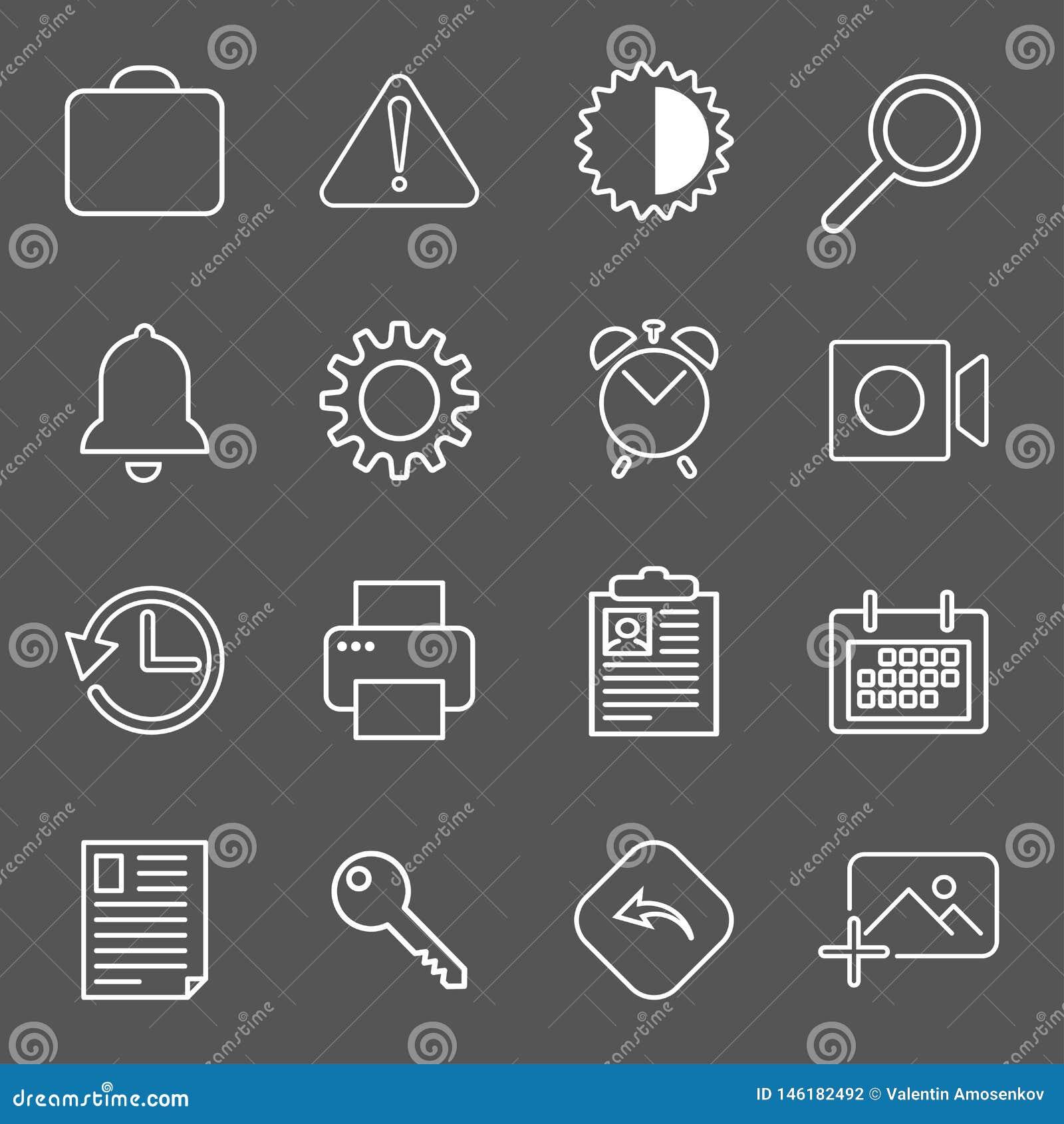 Fije con los iconos del correo en estilo moderno S?mbolos de alta calidad para el dise?o del sitio web y los apps m?viles Pictogr