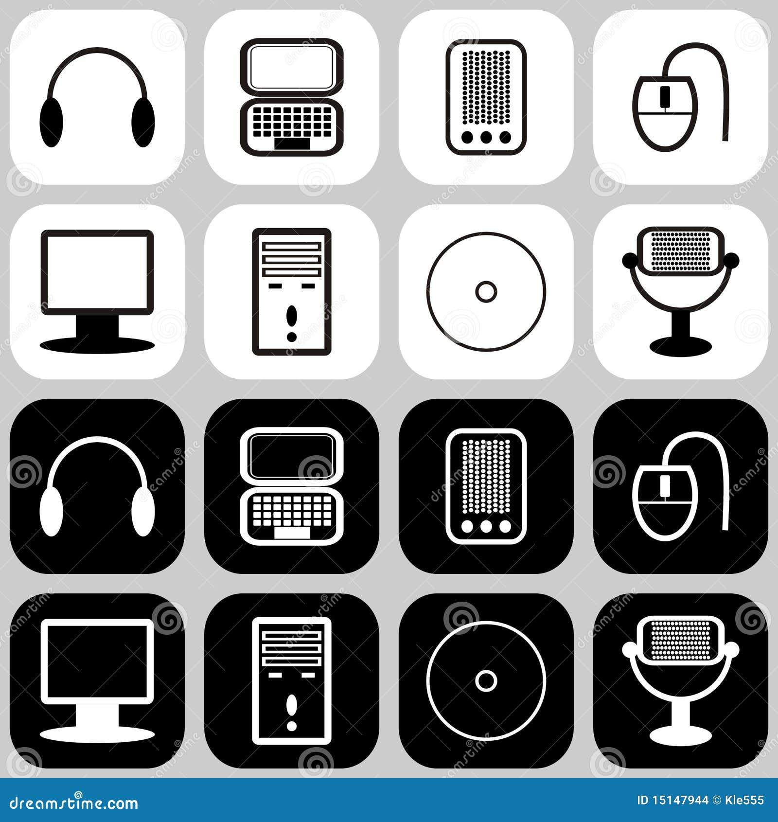 Fije con los iconos del ordenador