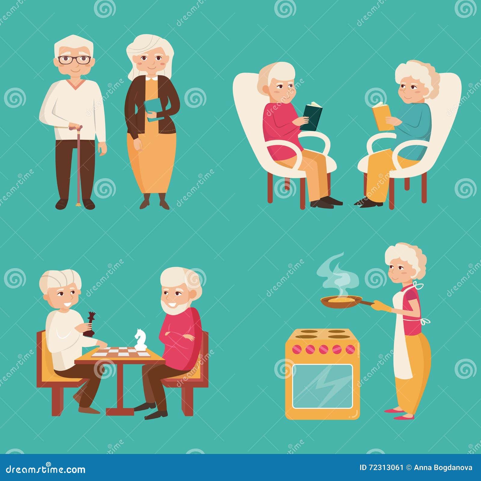 Fije con una más vieja gente