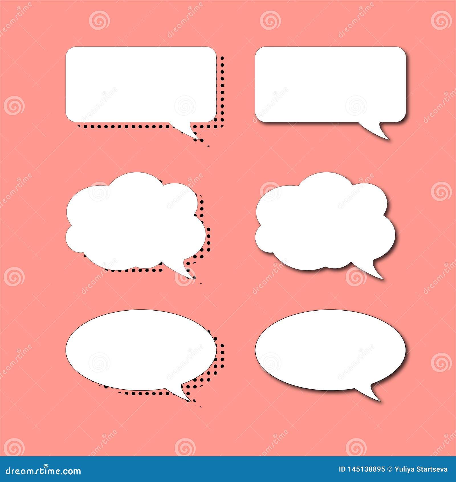 Fije de burbujas del discurso en dos diversos estilos