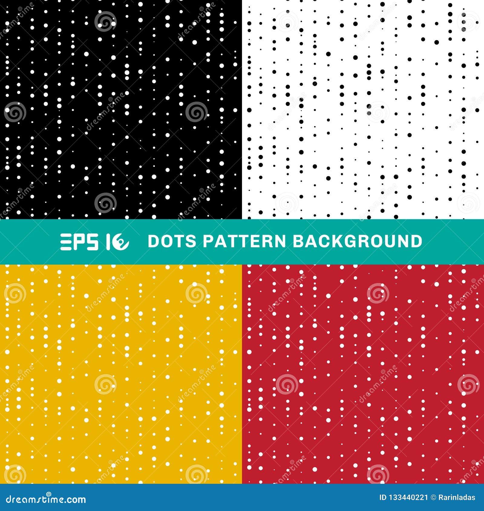 Fije de círculos geométricos abstractos del modelo de puntos del tamaño al azar encendido