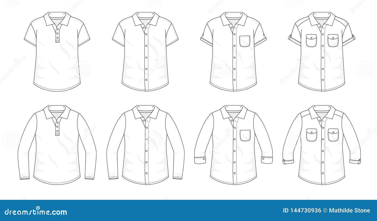 Fije de camisas abotonan encima de las blusas