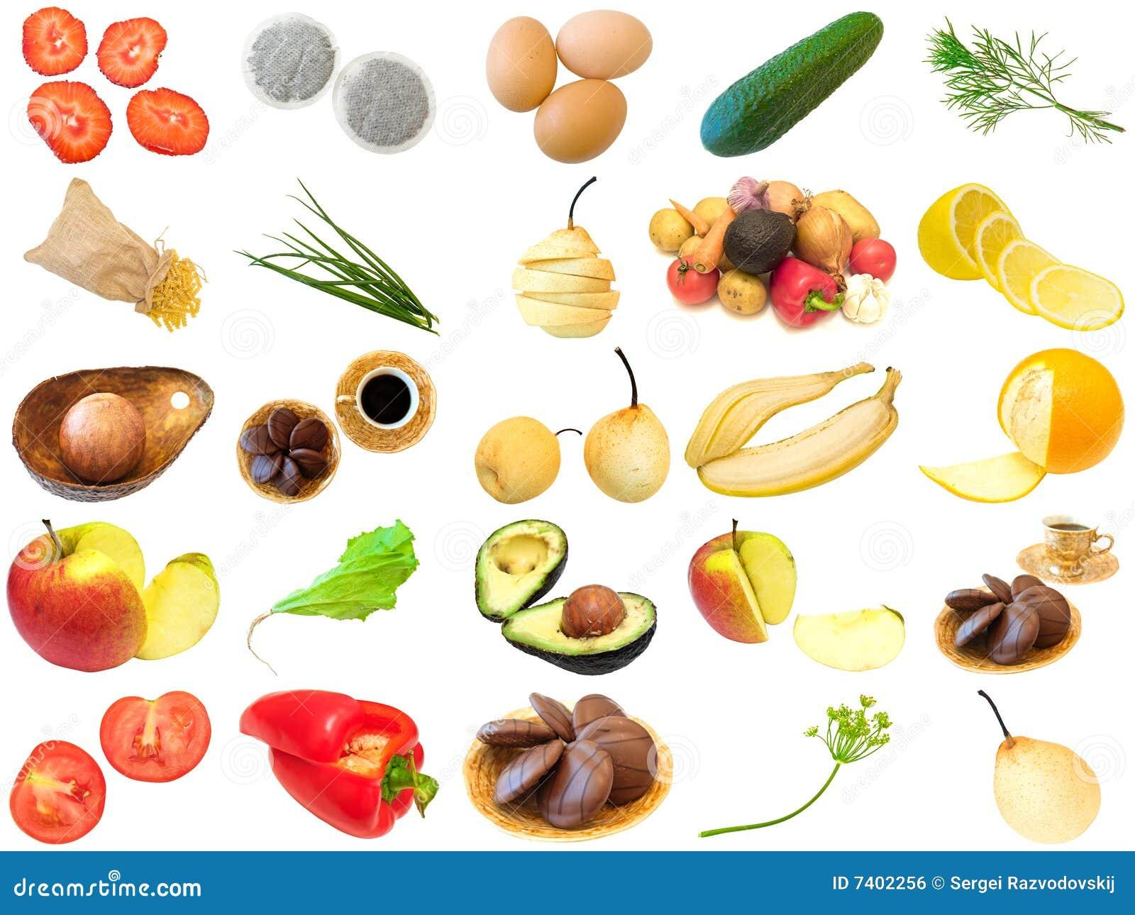Fije de diversos alimentos imagen de archivo libre de - Fotos de comodas ...