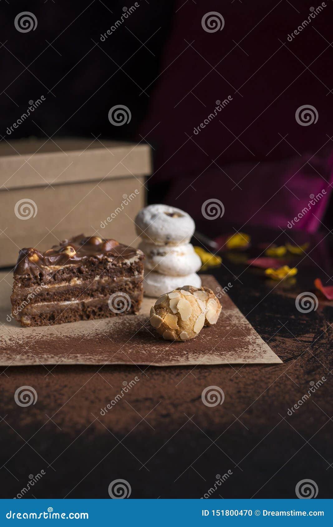 Fije de diversos pasteles textura cremosa curruscante y cremosa