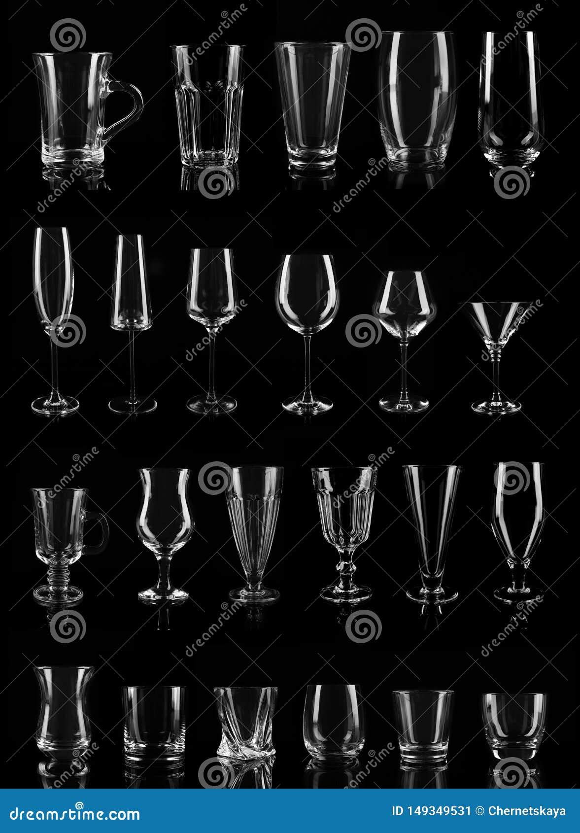 Fije de diversos vidrios vacíos