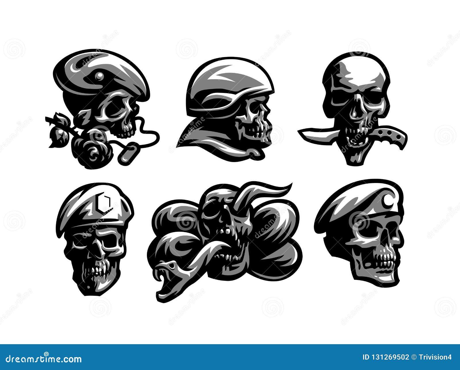 Fije de emblemas del cráneo