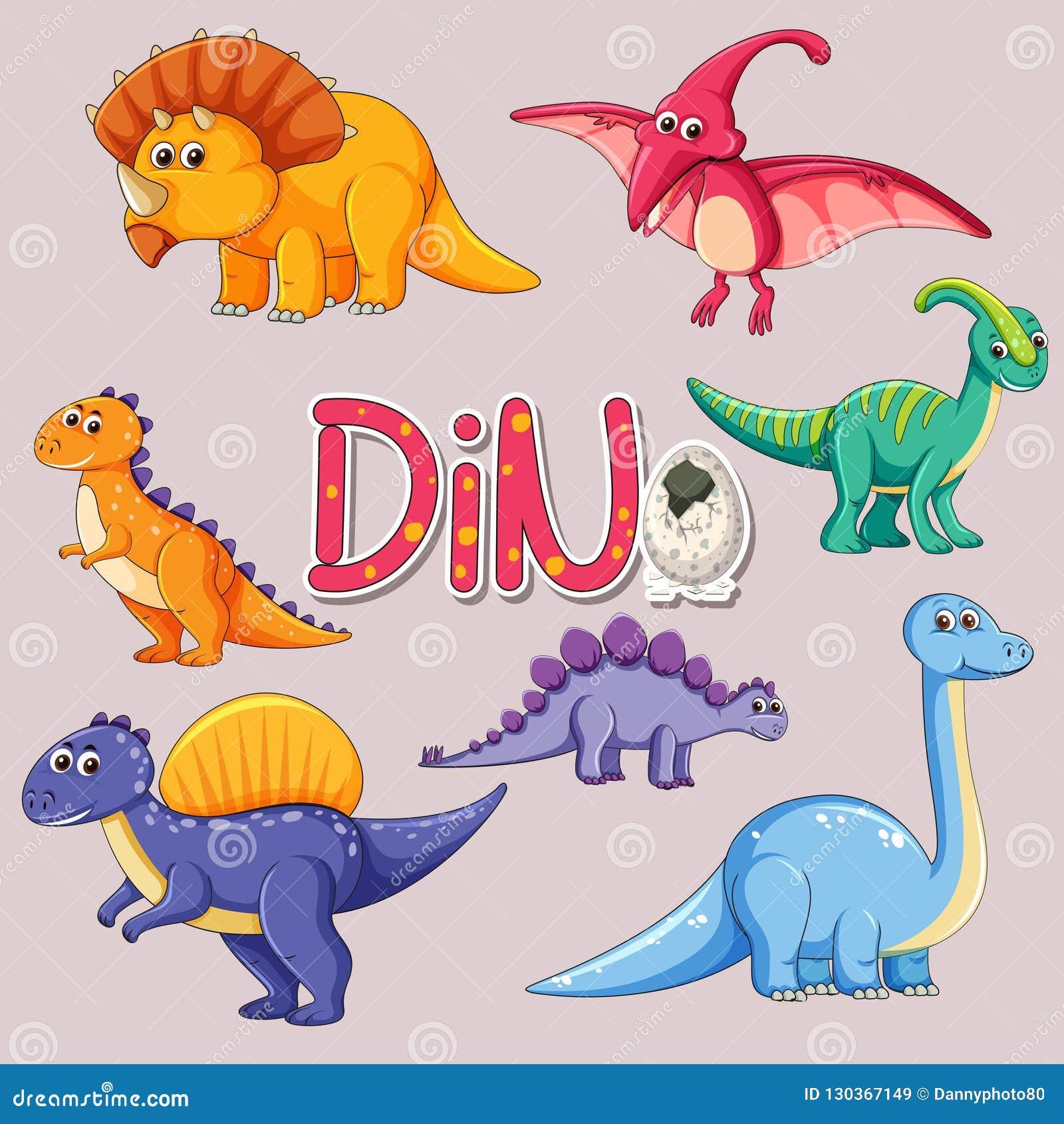 Fije de etiqueta engomada del dinosaurio