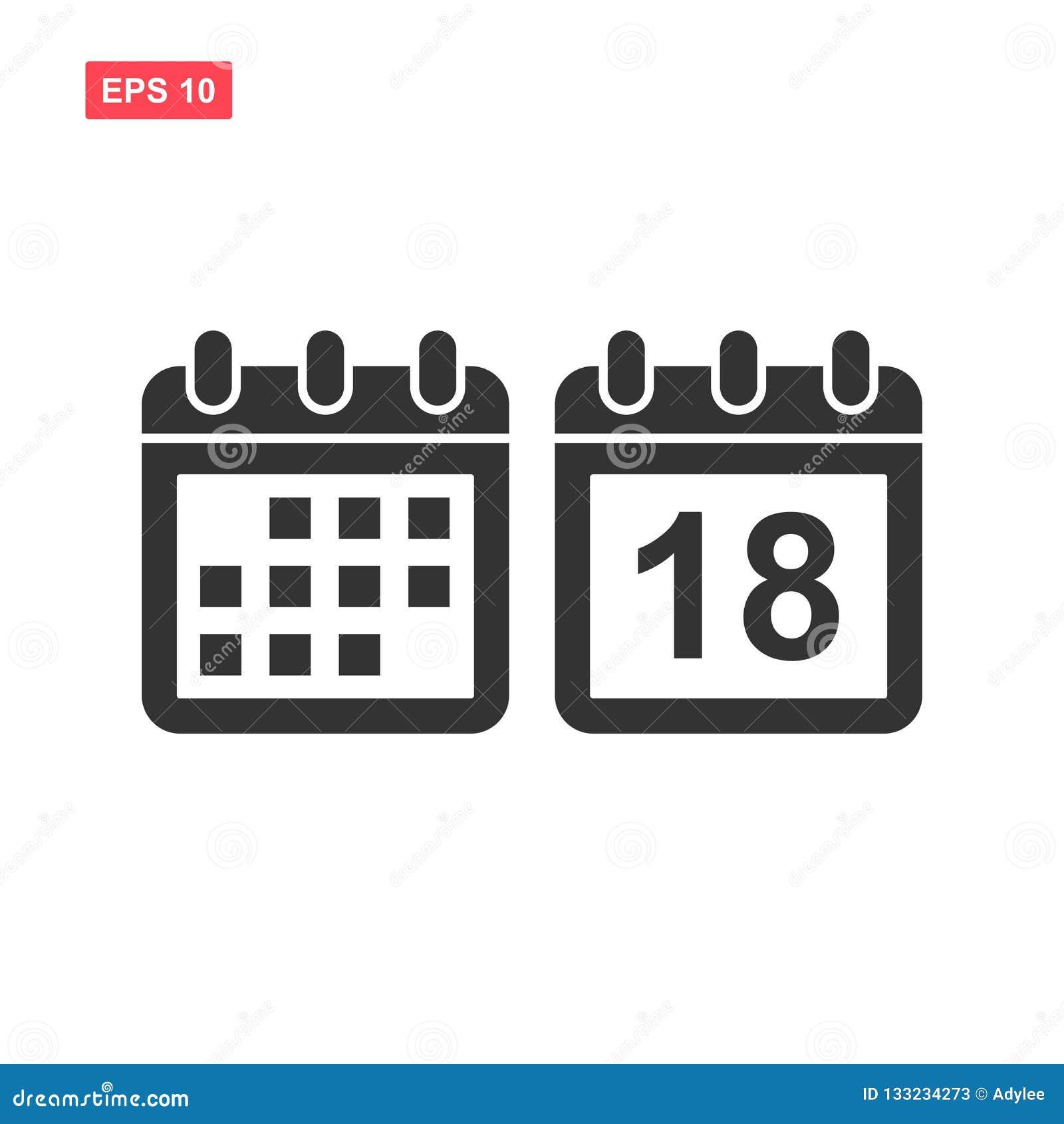 Fije de icono del vector del calendario aislado
