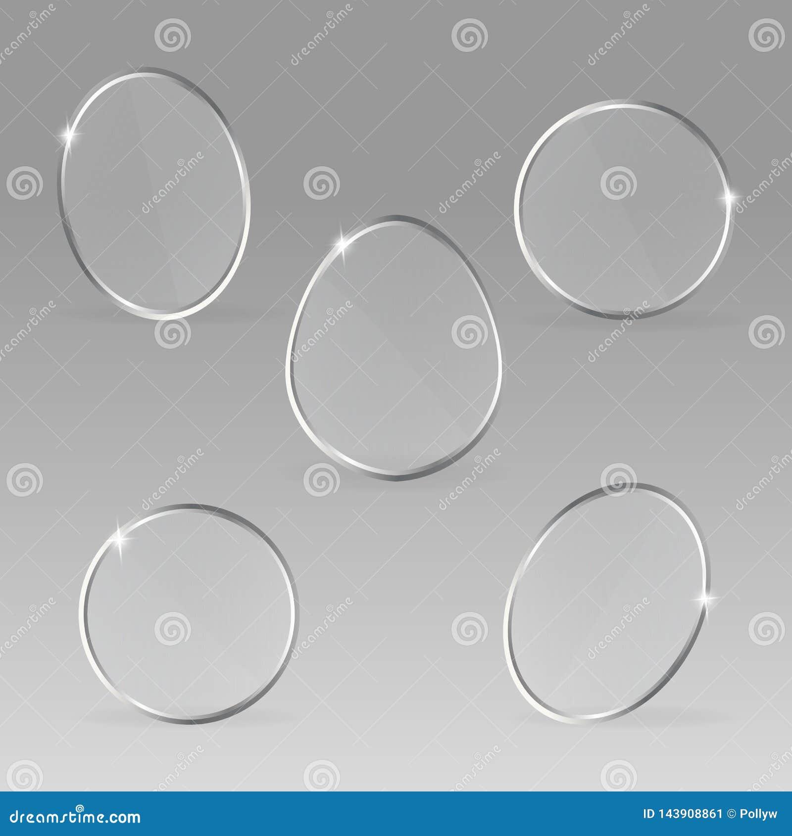 Fije de las etiquetas vacías de cristal