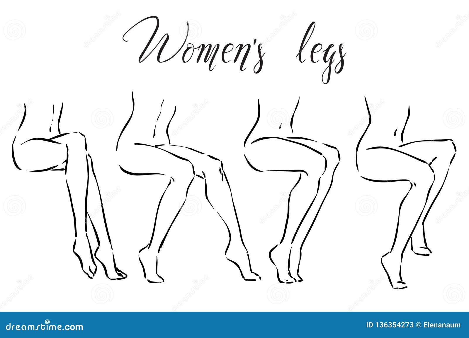 Fije de las piernas de las mujeres Iconos para los treatmens del balneario, el retiro del pelo, el masaje etc