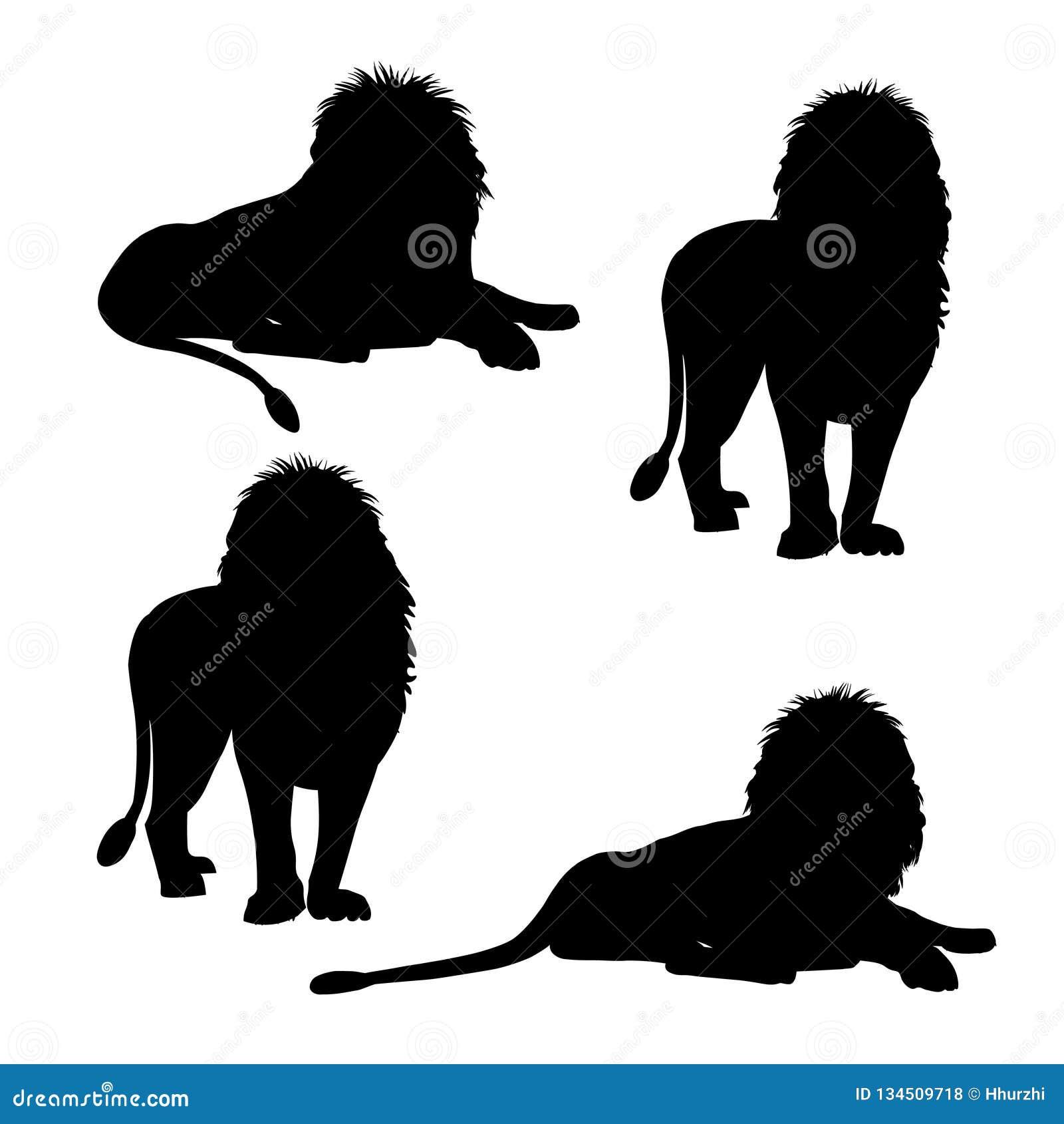 Fije de siluetas del león