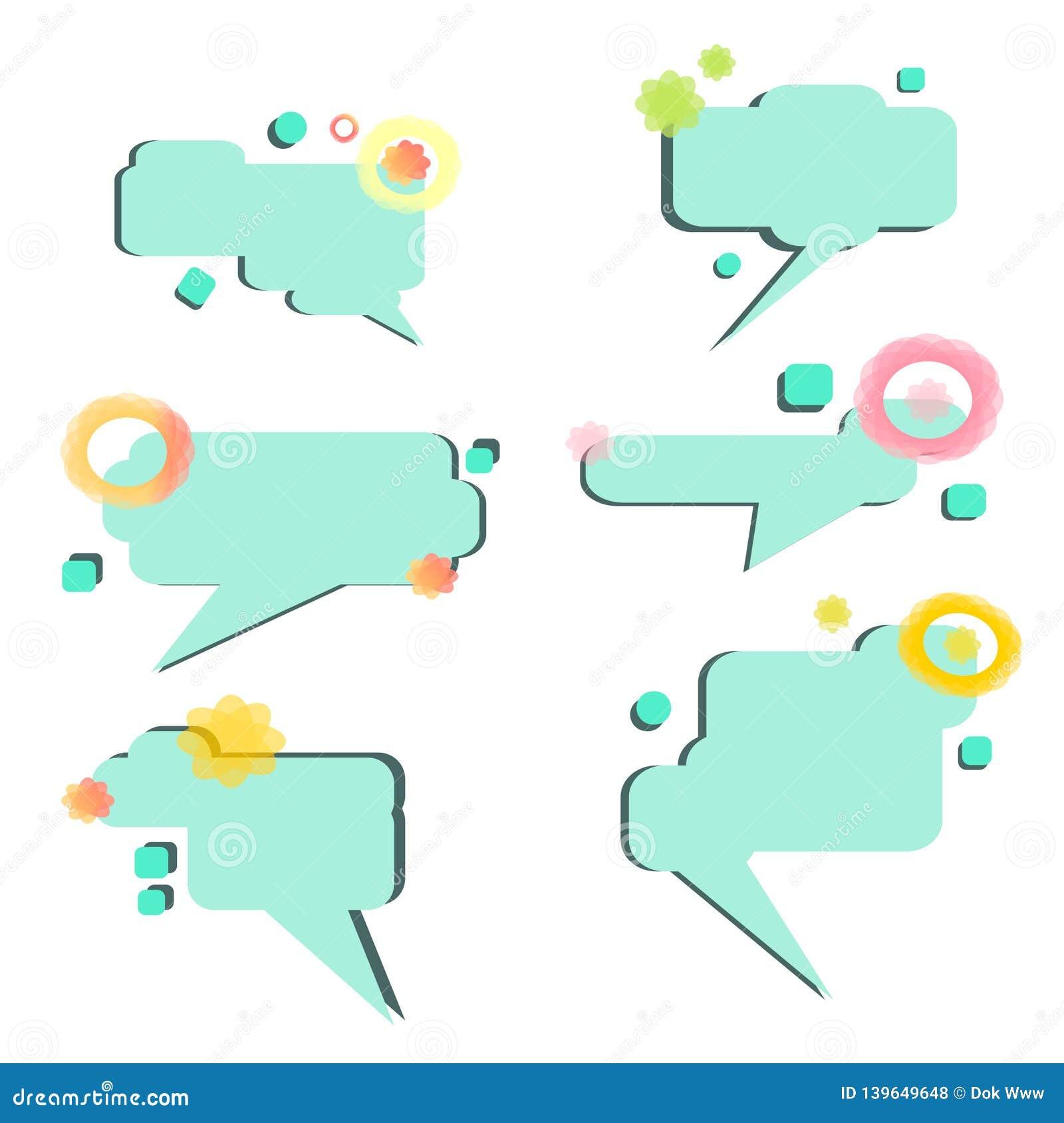 Fije de vector de las burbujas del discurso a mano - vector