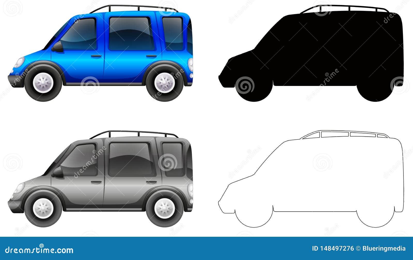 Fije del coche azul